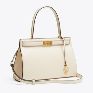 NWT Tory burch white lee radziwill small satchel